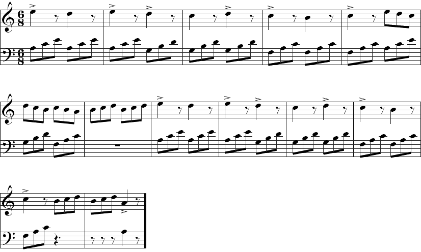 Arpeggio II - Piano